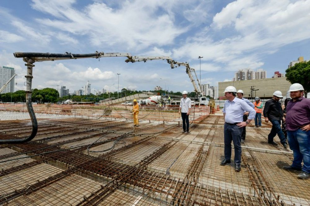 Obras do piscinão do Paço avançam para concretagem